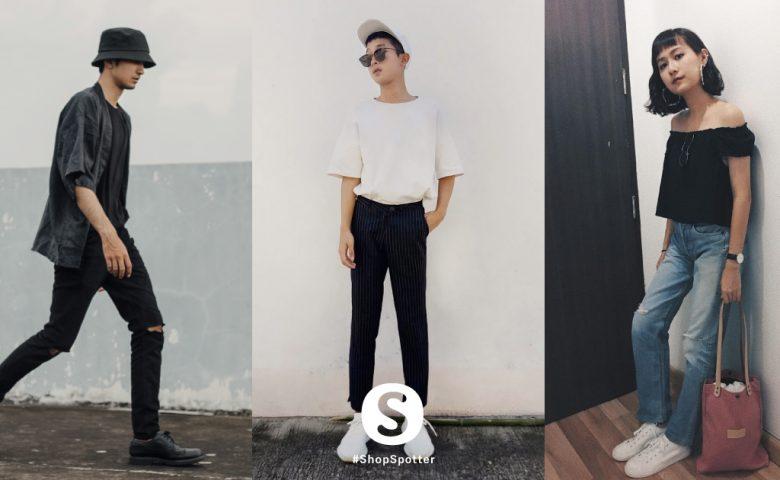 อัปเดตลุค Black & White ของ 10 ShopSpotter ประจำเดือนตุลาคม 2017