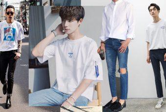 """แต่งตัวสบายๆ สไตล์เกาหลี """"เสื้อขาว + กางเกงยีนส์"""" ลุคง่ายๆ ก็ขยี้ใจสาวๆ ได้"""