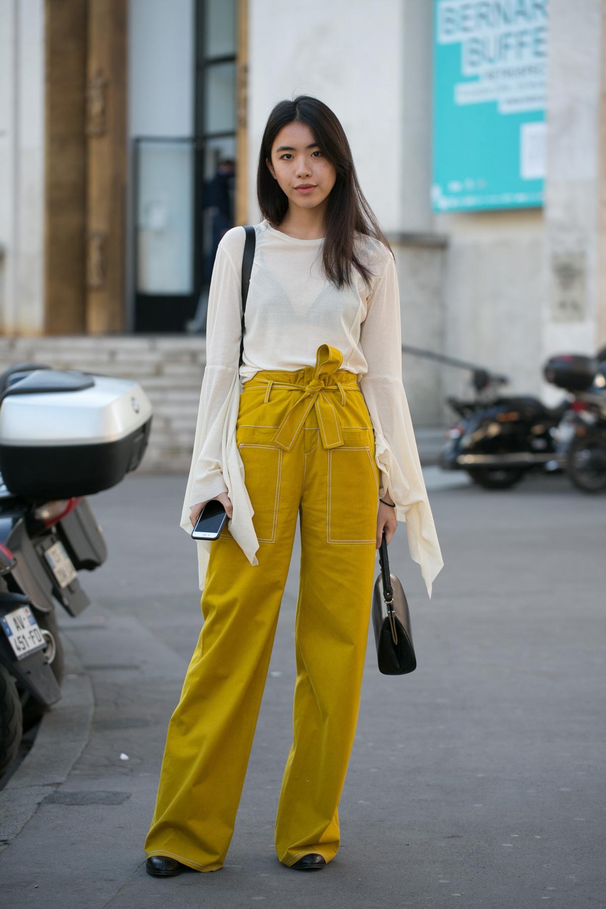 กางเกงเอวสูง
