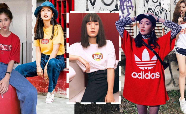 Logo Tee ไอเท็ม เสื้อยืด มาแรงสายสตรีท ยุค 90s กับลุคชิคๆ ที่น่าแต่งตาม !