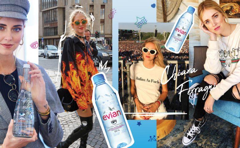 Chiara Ferragni แฟชั่นไอคอนสุดชิค กับการร่วมออกแบบขวดน้ำ Limited Edition จาก Evian