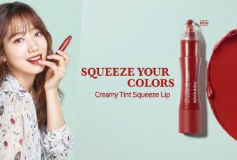 สนุกไปกับ 'Creamy Tint Squeeze Lip' ลิปสติกในแท่งหลอดบีบจาก Mamonde