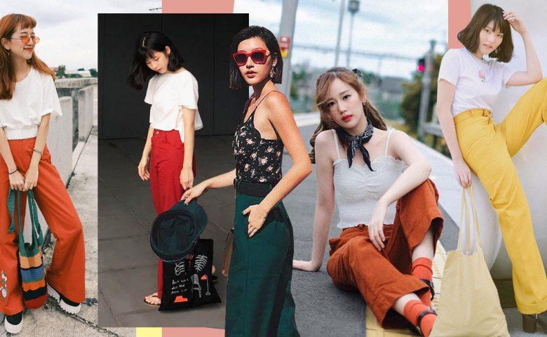 Colorful Block Pants แฟชั่นกางเกงสีสด แมตช์ลุคให้เก๋ไก๋ สไตล์แฟชั่นไอคอน