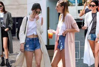 ไอเดียมิกส์แอนด์แมตช์กางเกงขาสั้น+เสื้อคลุมยาว